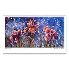 Irises Rectangle Decal