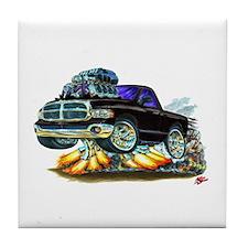 Dodge Ram Black Truck Tile Coaster