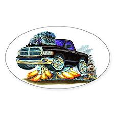 Dodge Ram Black Truck Oval Decal