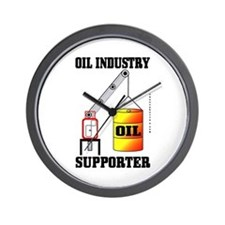 Oil Industry Supporter Wall Clock