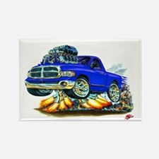 Dodge Ram Blue Truck Rectangle Magnet