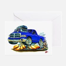 Dodge Ram Blue Truck Greeting Card