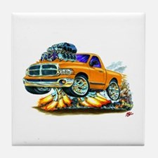 Dodge Ram Orange Truck Tile Coaster