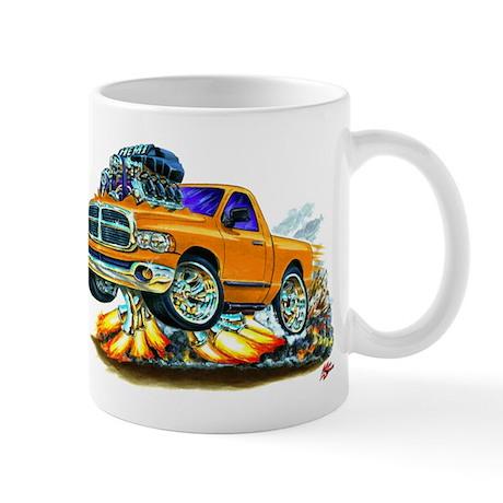 Dodge Ram Orange Truck Mug