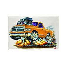 Dodge Ram Orange Truck Rectangle Magnet