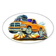 Dodge Ram Orange Truck Oval Decal