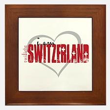 Cool Bella swan Framed Tile