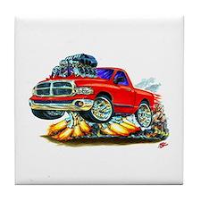 Dodge Ram Red Truck Tile Coaster