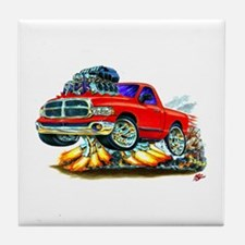 Dodge Ram Red Truck Tile Coaster