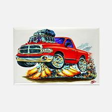 Dodge Ram Red Truck Rectangle Magnet