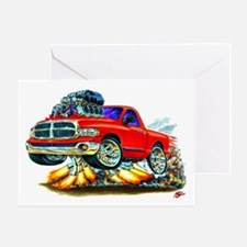 Dodge Ram Red Truck Greeting Card