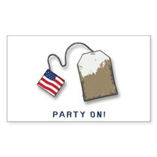 PARTY ON! Tea Party Rectangle Decal