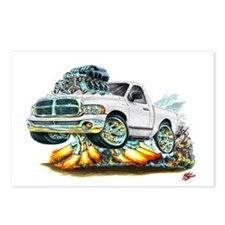 Dodge Ram White Truck Postcards (Package of 8)
