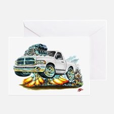 Dodge Ram White Truck Greeting Card