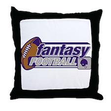Fantasy Football Throw Pillow