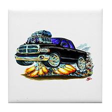 Dodge Ram Extended Cab Black Truck Tile Coaster