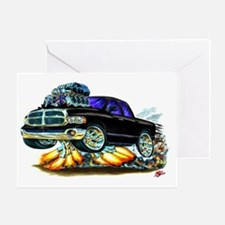 Dodge Ram Extended Cab Black Truck Greeting Card