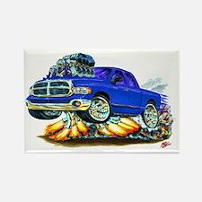 Dodge Ram Extended Cab Blue Truck Rectangle Magnet