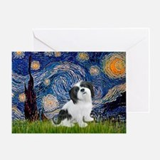 Starry / Lhasa Apso #2 Greeting Card