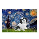 Starry / Lhasa Apso #2 Postcards (Package of 8)