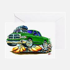 Dodge Ram Dual Cab Green Truck Greeting Card