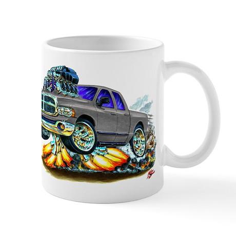Dodge Ram Dual Cab Silver/Grey Truck Mug