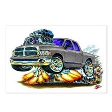 Dodge Ram Dual Cab Silver/Grey Truck Postcards (Pa