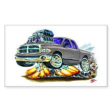 Dodge Ram Dual Cab Silver/Grey Truck Decal