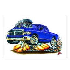Dodge Ram Dual Cab Blue Truck Postcards (Package o