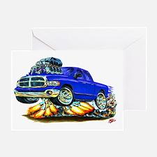 Dodge Ram Dual Cab Blue Truck Greeting Card