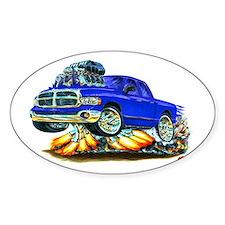Dodge Ram Dual Cab Blue Truck Oval Decal