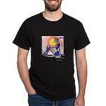 Blue Feather Femdroid Dark T-Shirt