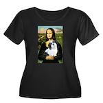 Mona / Lhasa Apso #2 Women's Plus Size Scoop Neck
