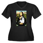 Mona / Lhasa Apso #2 Women's Plus Size V-Neck Dark