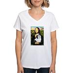 Mona / Lhasa Apso #2 Women's V-Neck T-Shirt