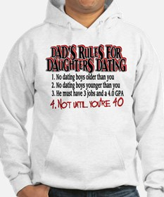 Dads Rules for Daughters Dating Hoodie