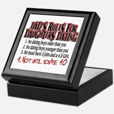 Dads Rules for Daughters Dating Keepsake Box