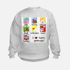 I Love Farm Animals Sweatshirt