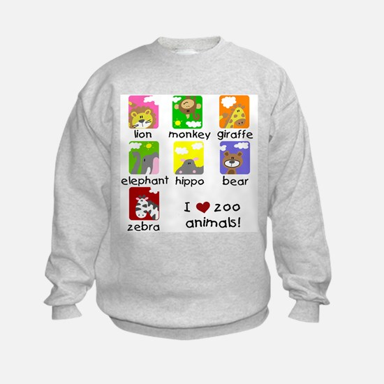 I Love Zoo Animals Jumpers