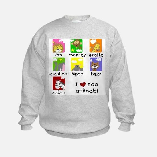 I Love Zoo Animals Sweatshirt