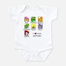 I Love Zoo Animals Infant Bodysuit