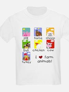 I Love Farm Animals T-Shirt