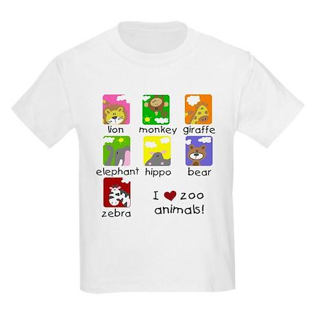 I Love Zoo Animals Kids Light T-Shirt