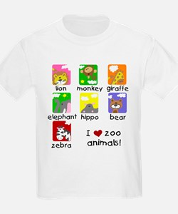 I Love Zoo Animals T-Shirt
