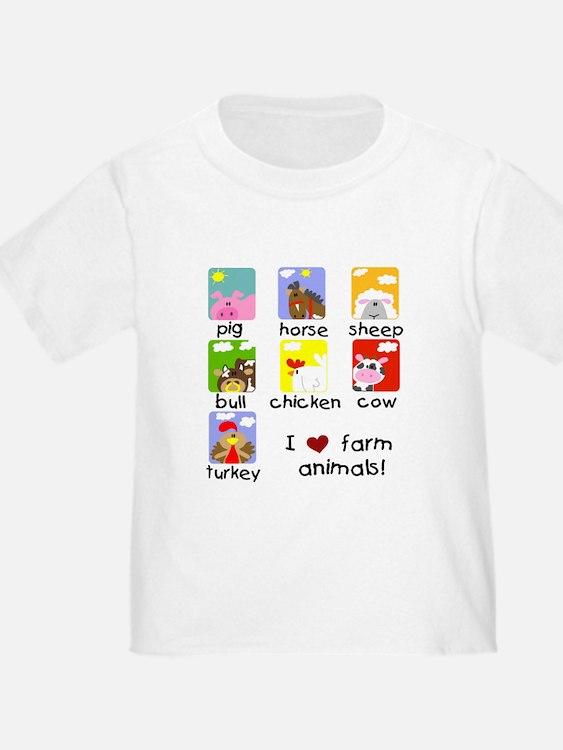 I Love Farm Animals T
