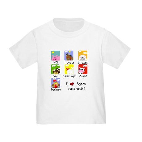 I Love Farm Animals Toddler T-Shirt