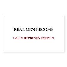 Real Men Become Sales Representatives Decal