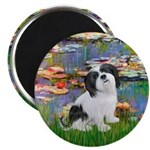 Lilies / Lhasa Apso #2 Magnet