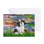 Lilies / Lhasa Apso #2 Greeting Cards (Pk of 10)