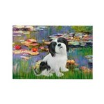 Lilies / Lhasa Apso #2 Rectangle Magnet (10 pack)